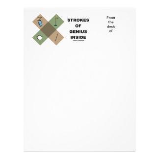 Cursos do interior do gênio (teste padrão transver papel de carta