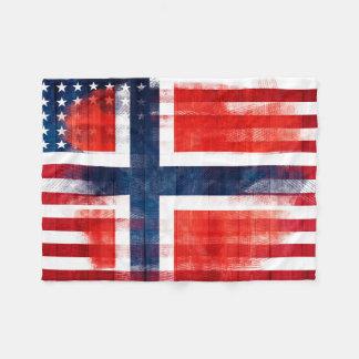 Cursos noruegueses da madeira & da pintura da cobertor de lã