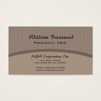 Curva do cinza de Biege Cartão De Visitas