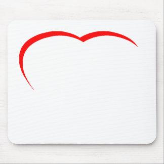 Curva vermelha do coração os presentes de Zazzle d Mousepads