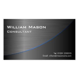 Curvado de aço inoxidável preto legal, cartão de v modelos cartao de visita