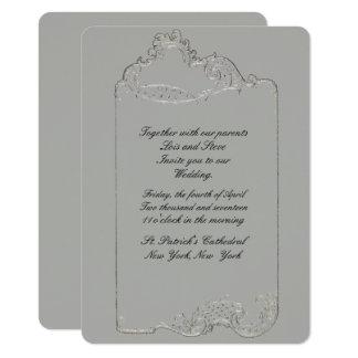 Curvando o convite Rococo do casamento