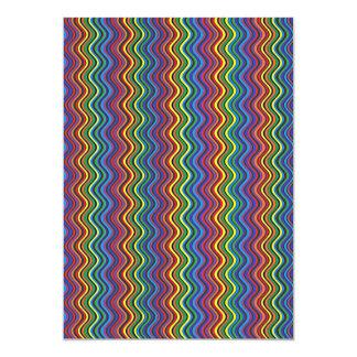 Curvas coloridas convite 12.7 x 17.78cm
