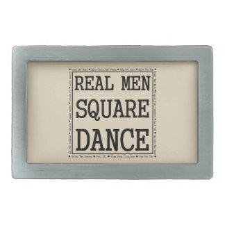 Curvatura real da dança quadrada dos homens