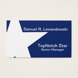 Customizável elegante da estrela branca cartão de visitas