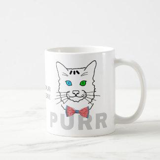 Customizável engraçado do Purr do gato Caneca De Café