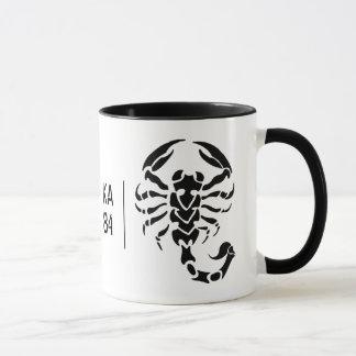 Customizável - escorpião e sua caneca das iniciais