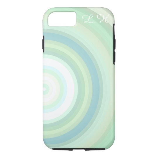 Customizável Monogrammed dos círculos Pastel Capa iPhone 7