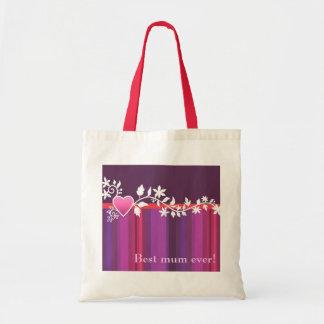 Customizável: Rosa da tira do coração Bolsa Para Compras