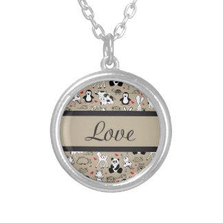 Cuteness animal do amor colares personalizados
