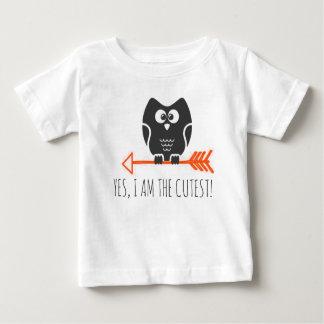cuteowl camiseta para bebê