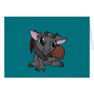Cutie Krampus! Cartão Comemorativo