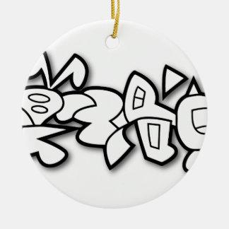 Cyclobunny Ornamento De Cerâmica