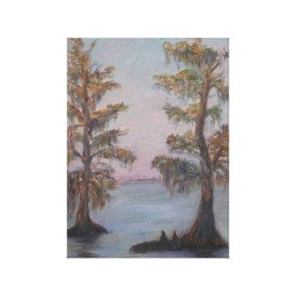 CYPRESS no impressão das canvas do RIO de JOHNS do Impressão Em Tela