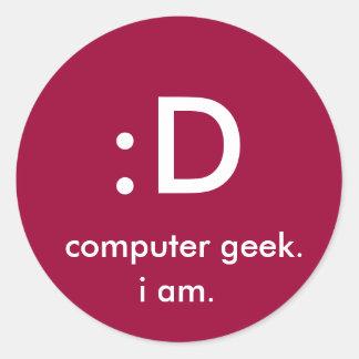 : D, geek do computador., i Am. Adesivo