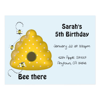 Da abelha convite de festas lá