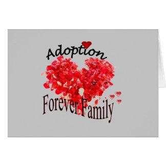 Da adopção cartão da família para sempre