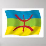 Da bandeira do Berber pessoas do impressão do post
