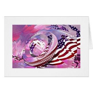 Da bandeira dos Estados Unidos cartão para sempre