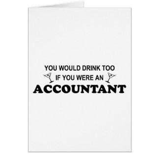 Da bebida contador demasiado - cartão