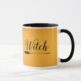 Da bruxa caneca do Dia das Bruxas por favor