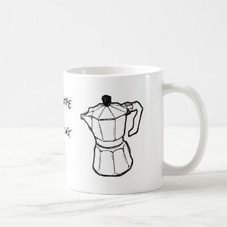 """Da """"café do pote de Moka da vida caneca"""" e caneca"""