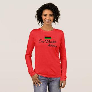 Da camisa africana das mulheres t de Crowndit luva