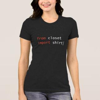 Da camisa da importação do armário - cores escuras