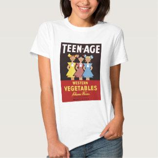 """Da """"camiseta dos vegetais ocidentais t-shirts"""