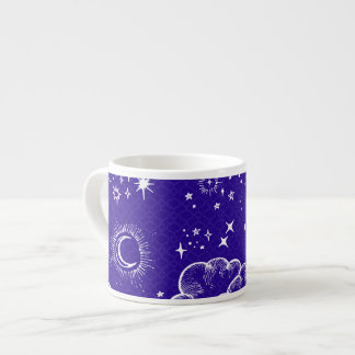 """Da """"caneca do café lua e das estrelas"""" xícara de espresso"""