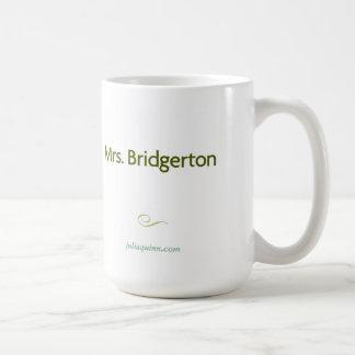 """Da """"caneca Sra. Bridgerton"""" de Julia Quinn"""