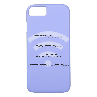 Da capa de telefone azul do design do código Morse