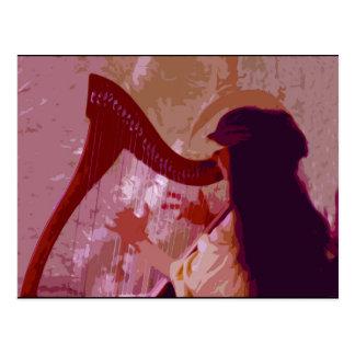 """Da """"cartão da arte de JTG senhora Harpa"""" Cartão Postal"""