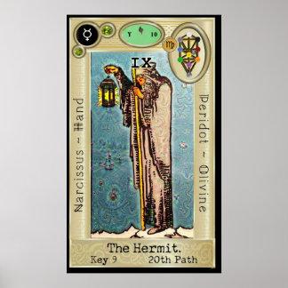 ~ da chave 9 de Ifdawn Deepdream Tarot o eremita Pôster
