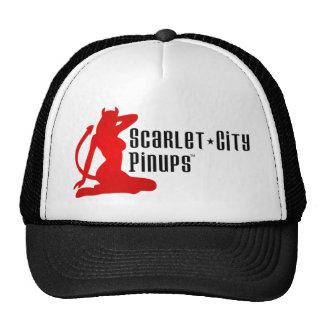 Da cidade dos Pinups escarlate do chapéu do camion Boné