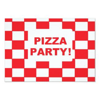 """Da """"convites do partido pizza"""" convite 8.89 x 12.7cm"""
