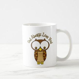 Da coruja amor sempre você caneca de café