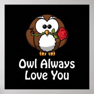 Da coruja amor sempre você poster