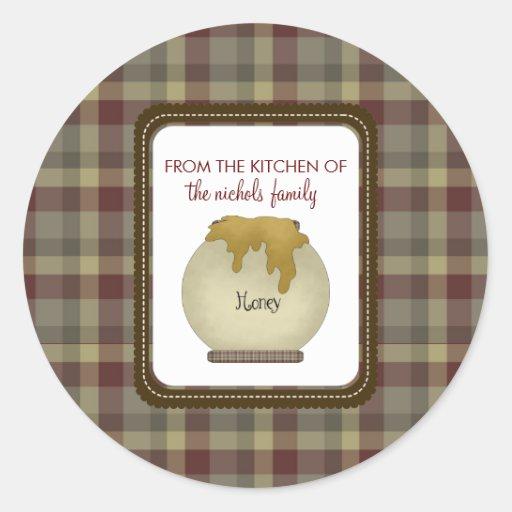 Da cozinha das etiquetas adesivo em formato redondo