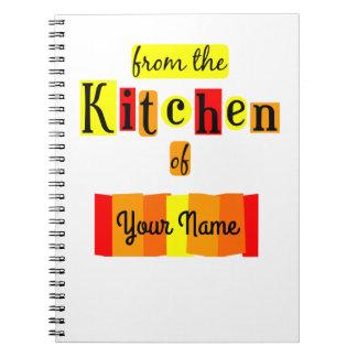 Da cozinha do caderno feito sob encomenda da