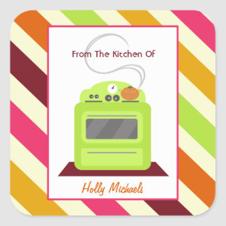 Da cozinha… do fogão & de listras verde-claro