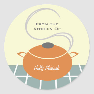 Da cozinha… do pote alaranjado do cozinhar adesivo