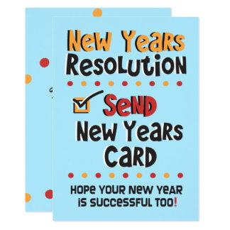 Da definição do © o ano novo do cartão liso do convite 12.7 x 17.78cm