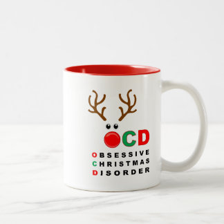 Da desordem obsessiva do Natal de OCD caneca
