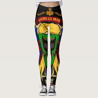 "Da dor de Lucha Lee Brah do ""Dem Legz orgulho e"" Leggings"