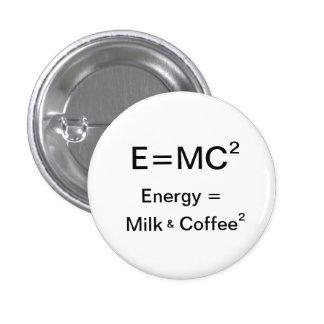 ² da energia = do leite & do café bóton redondo 2.54cm
