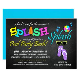 Da escola convites da festa na piscina para fora