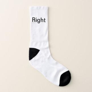 Da esquerda à direita meias