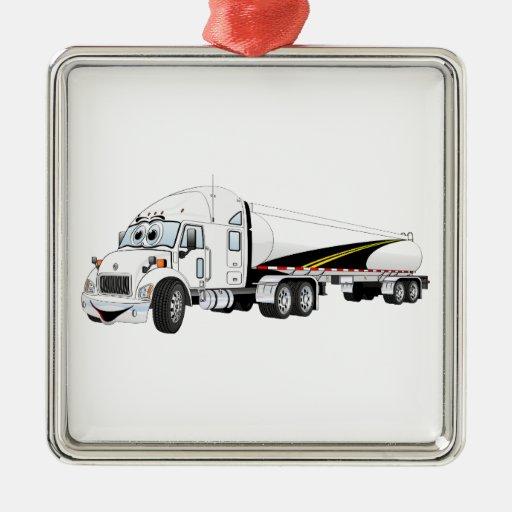 Da estrada desenhos animados brancos do petroleiro enfeite de natal