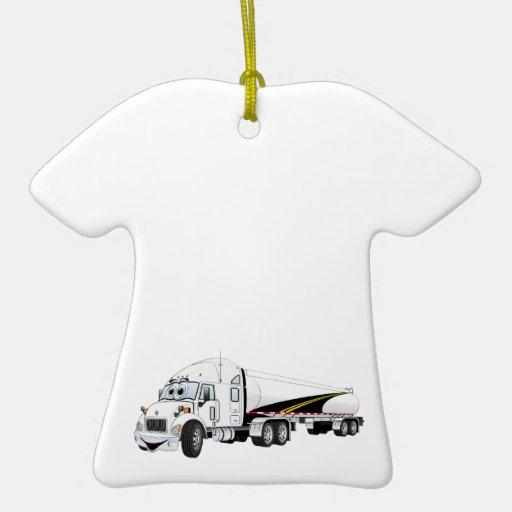 Da estrada desenhos animados brancos do petroleiro enfeites para arvores de natal